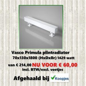 Aanbieding Vasco Primula plintradiator
